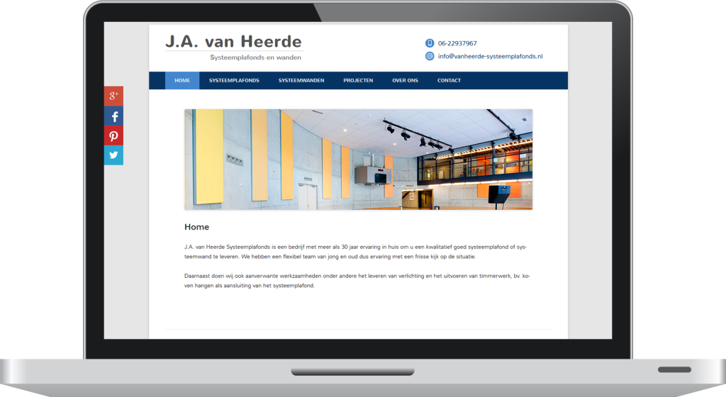 WordPress website - J.A. van Heerde - macbook